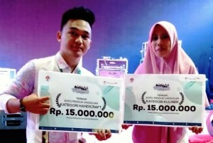 Dua Utusan Lampung Masuk 10 Besar Santripreneur Expo Di Bali