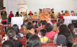 Bupati Lamteng Letakan Batu Pertama Pembangunan Gereja GKGSB
