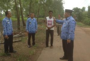 Wakil Wali Kota Metro Tinjau Calon Kampung Buah Di Tejosari
