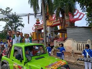Ratusan Warga Sambut Piala Adipura Kabupaten Waykanan