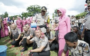 122 Personel Polres Lamtim Naik Pangkat