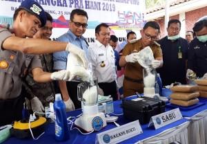 BNN Lampung Musnahkan 1,5 Kg Sabu Dan 58,5 Kg Ganja
