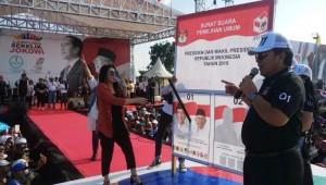 Kampanye Jokowi, Via Vallen Hibur Warga Tulangbawang
