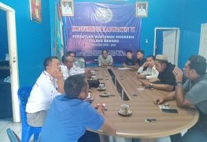 Jaringan Pengawas Kebijakan Kunjungi Balai Wartawan Tulangbawang