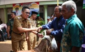 Bupati Lamtim Serahkan Bansos UPK PNPM Mandiri Margatiga