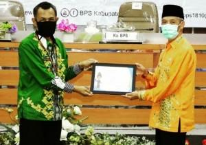 Bupati Pringsewu Terima Penghargaan Dari BPS