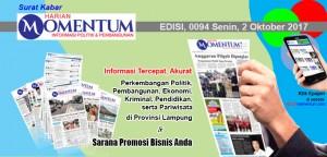 Harian Momentum Edisi 2 Oktober 2017