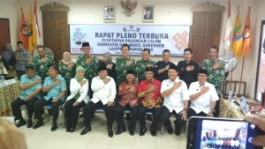 KPU Lampung Tetapkan Empat Paslon Pilgub Lampung