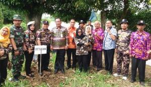 FKPPI Tanam 257 Pohon Aren Di Bantaran Sungai Tulangbawang