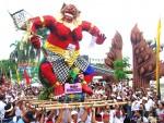 Masyarakat Lamsel Antusias Saksikan Festival <i>Ogoh-Ogoh</i> Di Waypanji