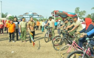 Gowes Sepeda Warnai Peringatan Hari Kesaktian Pancasila Dan HUT TNI Di Purbolinggo