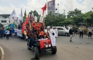 Ratusan Massa Di Lampura Demo Tolak RUU HIP