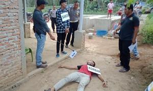 Polisi Rekonstruksi Kasus Pembunuhan Di Lapo Tuak