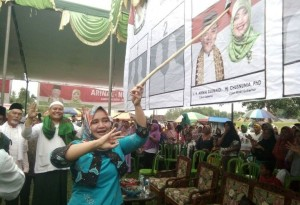 Kampanye Di Seputihbanyak, Riana Sari: Masalah Pertanian Masih Jadi Keluhan