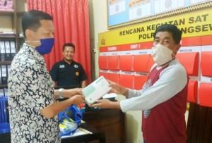 Fraksi Gerindar DPRD Pringsewu Beri Bantuan APD Untuk Kepolisian