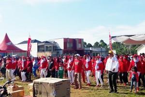 Warga Lambar Meriahkan Jalan Sehat Milenial Di Purajaya