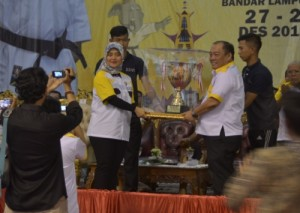 Wagub Buka Kejurnas Karate Lampung Open 2019