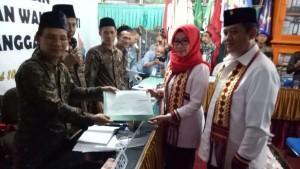 Usung Program ASIK, Dewi-Syafii Daftar Pilkada Tanggamus