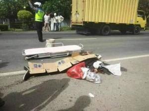Pengendara Motor Tewas, Polisi Amankan Sopir Truk Tronton