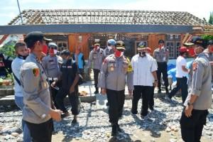 Wakapolda Tinjau Koban Bencana Puting Beliung