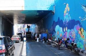 Kuas Lampung Hentikan Mural Underpass Unila