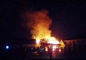 Tiga Lokal SMPN 3 Banjaragung Terbakar