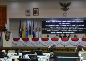 AKD DPRD Lampung Terbentuk, Ini Susunannya