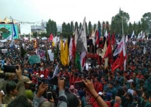 DPRD Lampung Kembali Didatangi Mahasiswa