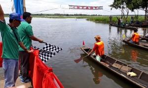 26 Regu Ikut Lomba Perahu Dayung Di Rawa Bawanglatak
