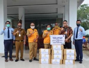 Bank Lampung Bantu Sembako Warga Mesuji