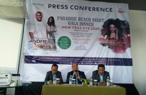 Perayaan Tahun  Baru 2020, Novotel Lampung Hadirkan Andmesh Kamaleng