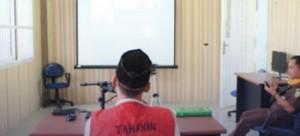 Tiga WPB Lapas Gunungsugih Jalani Persidangan Online