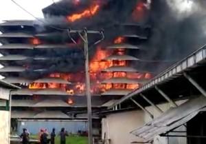 Kebakaran Pabrik Karet, Kerugian Diperkirakan Rp50 Miliar