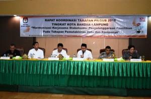 KPU Bandarlampung Bahas Tahapan Pilgub