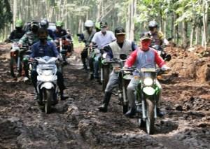 Kendarai Motor Trail, Pimpinan Pringsewu Tinjau TMMD