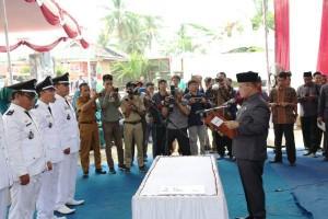 Kades Terpilih Hasil Pilkades Serentak 2019 Di Lamsel Mulai Dilantik