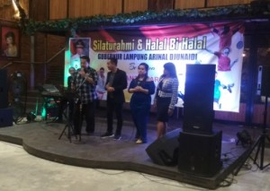 Silaturahmi Dengan Pengurus Cabor, Arinal Sumbang Tiga Lagu