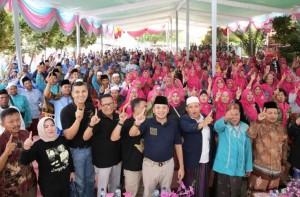 Kampanye Di Lampung Tengah, Ridho Paparkan Keberhasilan Pembangunan
