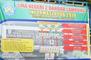 PPDB 2019, SMAN 2 Terima 386 Siswa