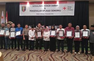PTPN VII Terima Penghargaan Dari PMI Sebagai Pendonor Terbanyak
