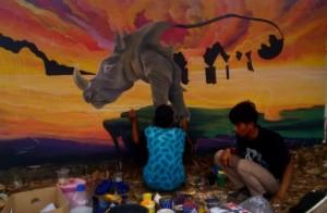 Delapan Group Ikut Lomba Mural Di Lamtim