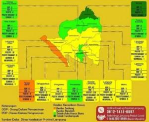 Pesibar Jadi Zona Oranye Penyebaran Covid-19, Bandarlampung Kuning