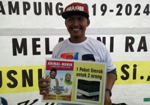 Raih Paket Umroh, Agus: Semoga Pak Arinal Jadi Gubernur Lampung