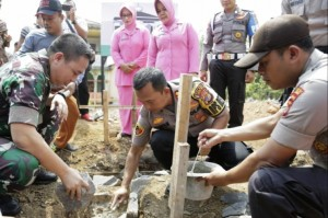 Peletakan Batu Pertama, Kapolres Pimpin Pembangunan Musala Baiturohman