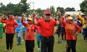 Senam Bang Ipul Jadi Tren Di Lampung Timur
