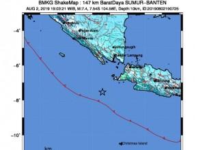 Gempa M 7,4 Guncang Banten, BMKG Sampaikan Peringatan Dini Tsumani