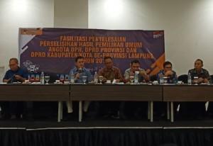 Jelang Sidang Sengketa Pileg, KPU Lampung Gelar Rakor