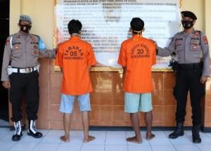 Satresnarkoba Tangkap Dua Warga Pringsewu, Diduga Salahgunakan Narkoba