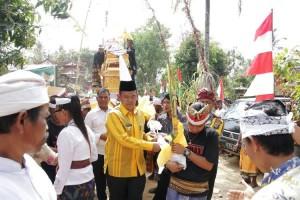 Wabup Pringsewu Hadiri <i>Ngaben</i> Di Pekon Mataram