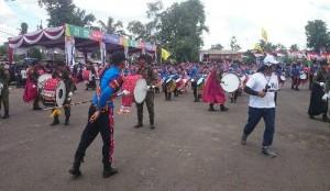 Deklarasi Pujo, Marching Band SGC Hibur Warga  Lampura
